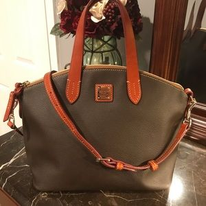 Dooney and Bourke Brown Leather Ruby Satchel